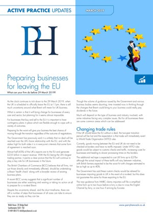 Active Practice. Preparing Businesses for Leaving the EU