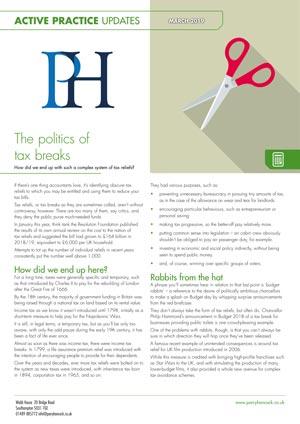 Active Practice. The Politics of Tax Breaks