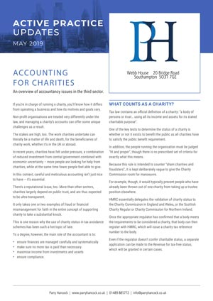 Active Practice. Accounting for Charities