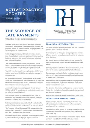 Active Practice. The Scourge of Late Payments