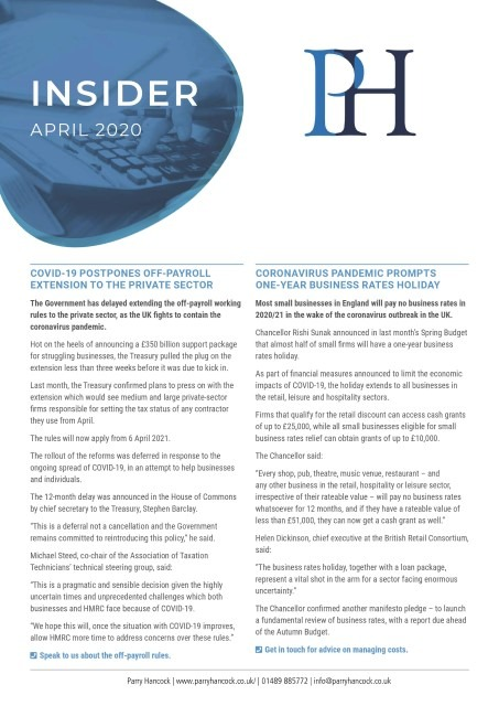 Insider: April 2020
