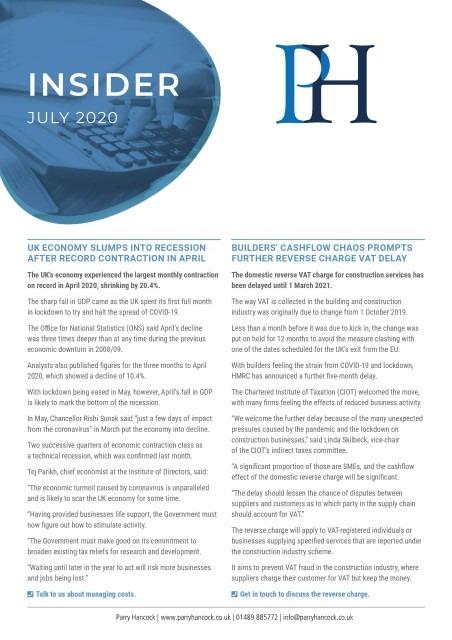 Insider: July 2020