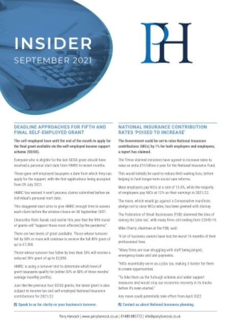 Insider: September 2021